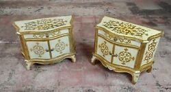 Antique Italian Florentine Small Gilt-wood Commodes -a Pair