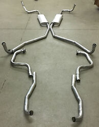 1966 Buick Riviera Dual Exhaust System, 304 Stainless Without Resonators