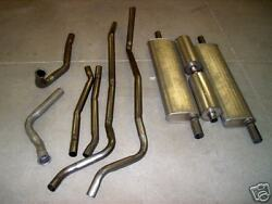 1955 Cadillac Dual Exhaust System 304 Stainless With Resonators