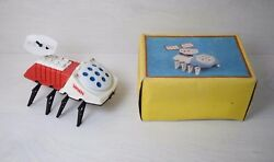 Vintage Collectible Space Age Moon Walker Vehicle Uran Battery Cosmos Toy 80's