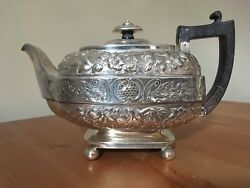 George Iii York Silver Teapot. 1812 Robert Cattle And James Barber 22 Troy Ounces