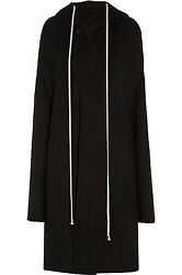 Pre-owned 100 Auth Sold Out Rick Owens Hooded Poncho In Size It38