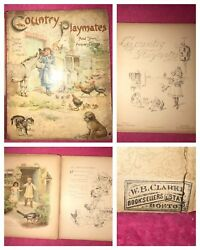 Andbull1890and039sandbullantique Ernest Nister 1st Ed. Book Country Playmates Andtown Acquaintances