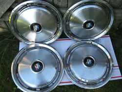 Vintage 4pc Buick Electra 15 Inch Full Wheel Hubcaps 10 Slot Vg+ Cond Rare Find