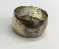Antique 1892 Martin Hall And Co Solid Silver Napkin Ring 2.5cm In Height 22.6g