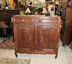 French Antique Oak Tall Sideboard Cabinet Circa 1800   Dining Room Furniture