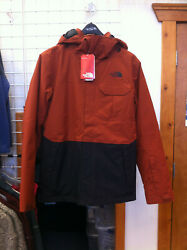 Men's The North Face TNF Winnfield Tri-Climate Jacket color Brandy Brown Small