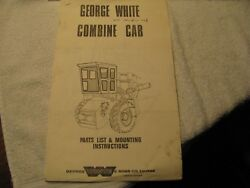 Rare George White And Sons Combine Cabs For Cockshutt 525-535-545 Brochure
