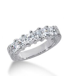 2.00 Carats Tw Womenand039s Princess Cut Diamond Wedding Band Ring In 14k White Gold