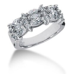2.20 Carats Tw Womenand039s Diamond Anniversary Band Ring In 14k White Gold