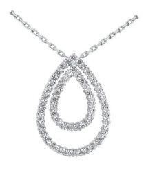 2.25 Carats Womenand039s Round Brilliant Cut Circle Of Love Diamond Pendant In 14k