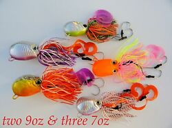 5 Thunder Jigs Octopus Saltwater Fishing Lures - 2 Pieces 250g And 3 Pieces 200g