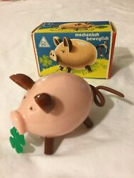 Antique Toy Made In German By Kohler- Pig With Moving Tail, 1950s