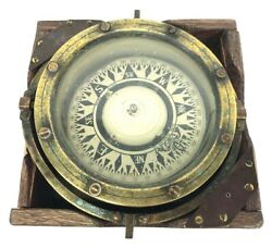 Wwii Japanese Navy Saura Seisakusho Boxed Boat Compass