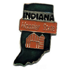 Wholesale Lot Of 12 Indiana State Shaped Lapel Hat Pins Tie Tac Fast Shipping