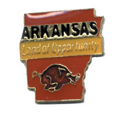 Wholesale Lot Of 12 Arkansas State Shaped Lapel Hat Pins Tie Tac Fast Shipping