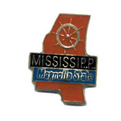 Wholesale Lot Of 12 Mississippi State Shaped Lapel Hat Pins Tie Tac Fast Ship