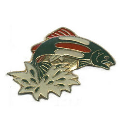 Wholesale Lot Of 12 Tropical Fish Green Jumping Lapel Hat Pins Tie Tac Fast Ship