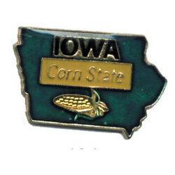 Wholesale Lot Of 12 Iowa State Shaped Lapel Hat Pins Tie Tac Fast Shipping