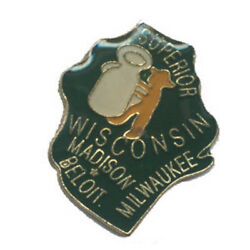 Wholesale Lot Of 12 Wisconsin State Shaped Lapel Hat Pins Tie Tac Fast Ship