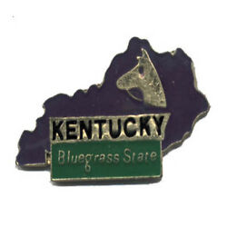 Wholesale Lot Of 12 Kentucky State Shaped Lapel Hat Pins Tie Tac Fast Shipping