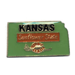 Wholesale Lot Of 12 Kansas State Shaped Lapel Hat Pins Tie Tac Fast Ship