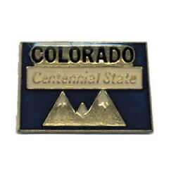 Wholesale Lot Of 12 Colorado State Shaped Lapel Hat Pins Tie Tac Fast Ship