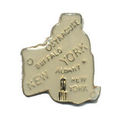 Wholesale Lot Of 12 New York State Shaped Lapel Hat Pins Tie Tac Fast Ship