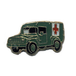 Wholesale Lot Of 12 Military Truck Red Cross Lapel Hat Pins Tie Tac Fast Ship