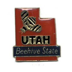Wholesale Lot Of 12 Utah State Shaped Lapel Hat Pins Tie Tac Fast Ship