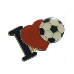 Wholesale Lot Of 12 I Love Soccer Football Lapel Hat Pins Tie Tac Fast Usa Ship