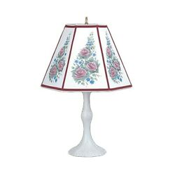 Table Lamp Rose Metal Parchment Shade 25 H X 14 1/2 W   Renovator's Supply