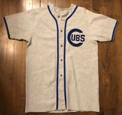 Chicago Cubs Vintage Empire Union Made Mlb Baseball Jersey Men's Large L Rare