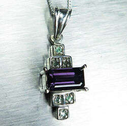 1.45ct Natural Purple Spinel And Alexandrite 9ct 14k 18k Yellow White Gold Pendant