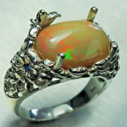 3.25ct Natural Welo Opal Multi-colour 925 Silver /9ct 14k 18k Gold Platinum Ring