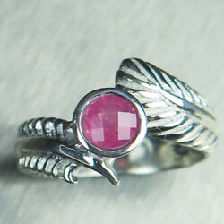 Natural Pink Spinel 925 Silver 9ct 14k 18k Gold Platinum Feather Engagement Ring