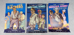 Indiana Jones Screenprinted Poster Trilogy Set Jack Durieux - Laurent MONDO Art