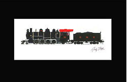 East Broad Top 2-8-2 15 10x17 Print In 10 X 20 Mat By Andy Fletcher Signed