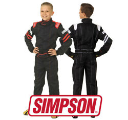 Simpson Youth Legend Ii Race Suit Sfi 3.2/1 Approved Black/red Or White S - L