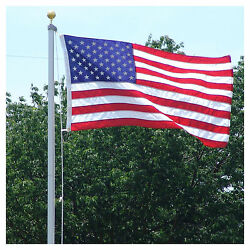 18 Ft. Steel Flagpole W/ 3'x5' U.s.flag 3'x5' State Flag And2 Car Antenna Flags
