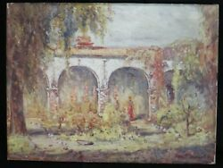 Edward Timmons Oil Of San Juan Capistrano Mission. Signed, 24 X 18. Dated 1930