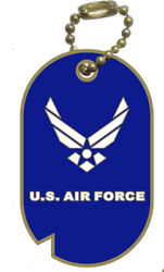 Wholesale Lot Of 12 Air Force With Wings Dog Tag Lapel Hat Pins Fast Us Shipping