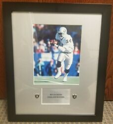 Bo Jackson 8x10 Framed Photo. Oakland Raiders. With Nameplate And Studs. Hof.