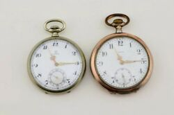 100 Years Old Omega Pocket Watches Set Of 2 1912 And 1938
