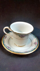 Noritake Mi Amor Pattern 4717 Cups Saucers Lot Of 6 Sets 12 Pieces