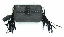 Savana Pewter Faux Leather Ladies Pewter Clutch Croco Wristlet 8.5x5x3 $46.99