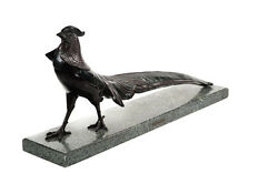 Beautiful French Art Deco Polychrome Bronze Sculpture Of A Pheasant By Lawrent