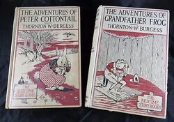 Peter Cottontail Grandfather Frog Bedtime Animal Story Books Copyright 1914