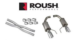 2015-2017 Mustang Gt 5.0 Roush Axle Back Exhaust System And X-pipe Resonator Kit