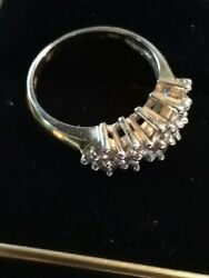 Easter Bunny Special!!  14 K Gold Diamond Cluster Ring
